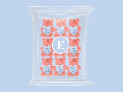 Love Yourself Gummy Bear gummybear valentines design cute illustration branding