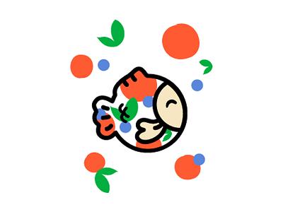 Taiyaki  playful japanese cute taiyaki snack japan food fish sweet colorful logo branding