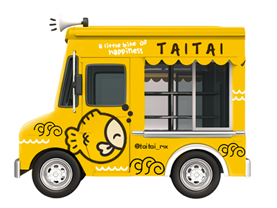 TaiTai food truck  yum food truck truck playful japanese cute teriyaki snack japan food