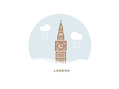 London - Rainy  bigben illustration city raining rain rainy weather london