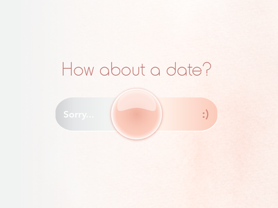 Yes/No button daily onlinedating interface design date no yes switch ui uichallenge 015
