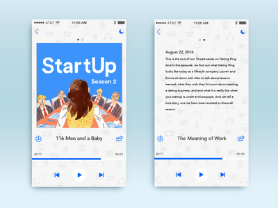 Podcast App  play volume app mobile podcast startup ui interface 009 dailyui