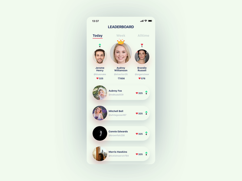 Daily UI Challenge #019 - Leaderboard figma daily challange app design dailyui ux ui