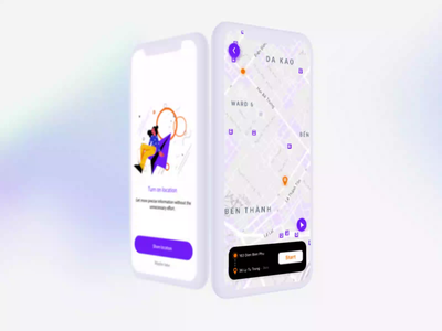 Daily UI Challenge #020 - Location Tracker location tracker illustration animation figma app after effects dailyui ux ui