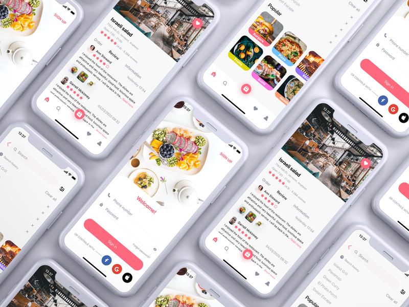 Veloconti - Food Delivery App food delivery app figma design app ux ui