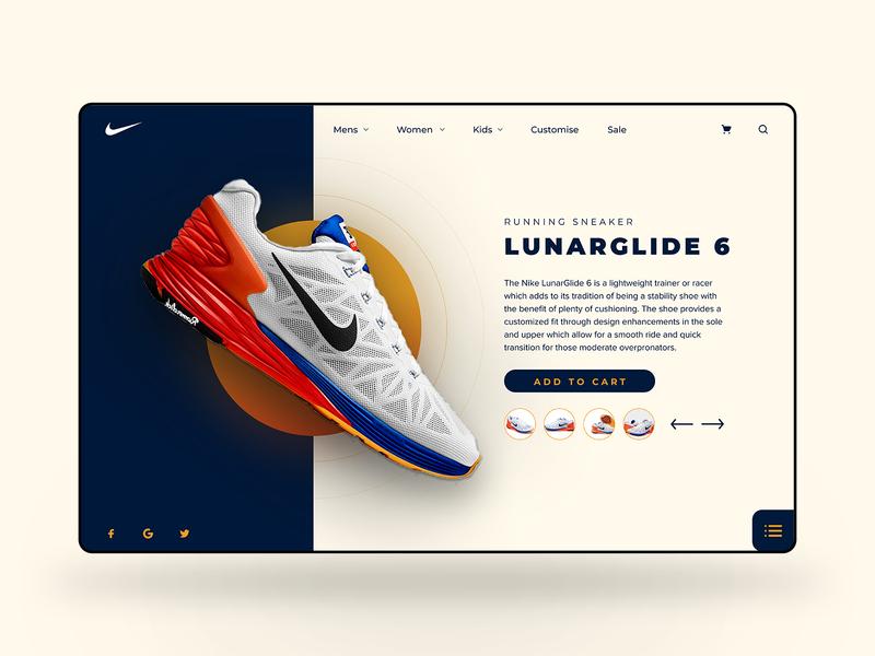 Nike Web UI Design web design shoe shop figma design ux ui