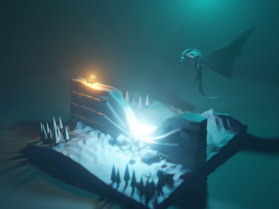 Dragon Melting The Wall Animation winter snow diorama isometric game of thrones got low poly blender 3d animation 3d animation the wall melting dragon