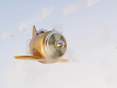 3D Aircraft Animation clouds sky modeling blender aircraft 3d animation 3d