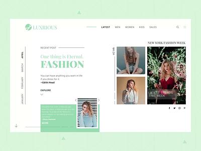 Luxrious - Fashion Web Design luxury web design clothes fashion figma after effects design ux ui