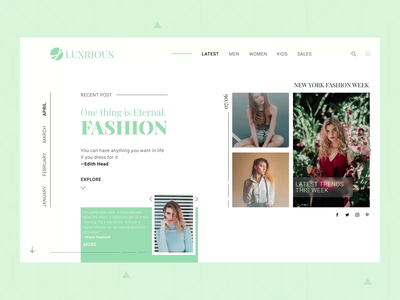Luxrious - Fashion Web Design luxury web design clothes fashion figma after effects design ux ui