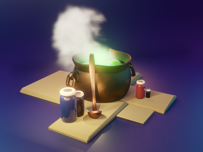 Boiling Poison 3D 3d modeling blender illustration
