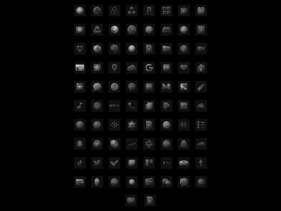 iOS 14 Glossy icons | Dark + Light Versions | 492 icons glassmorphism glossy ios14homescreen ios14 icons app figma design ux ui