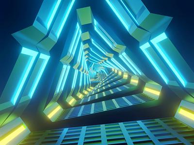 Sci-Fi Loop 3d animation loop sci-fi eevee blender 3d