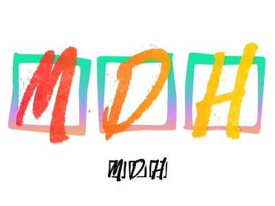 MDH color/style exploration red orange yellow blue green purple pink crazy 80s lickety-split lickety logo brand exploration