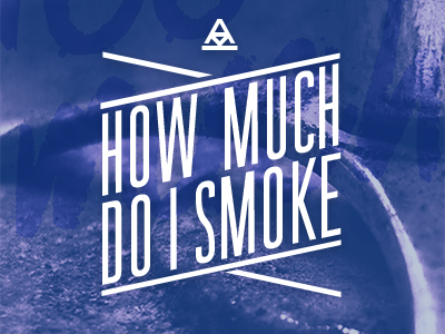 How much do I smoke lettering lettering purple blue white project narrow uppercase lines logo