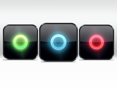 App icon – color test [fixed icon sizes] is iphone app application icon red green blue glow shadow inset glossy shiny color test