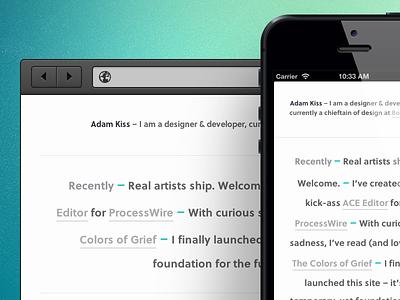 adamkiss.com – 2013 website site personal white minimal sans-serif sans geometric grey gray