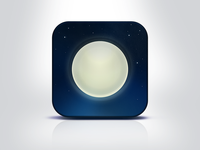"iOs app icon – ""Nightly"""