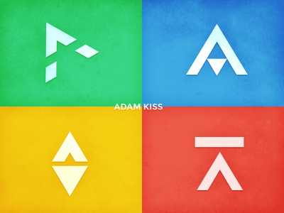 Playing with trianglogos logo brand colors shapes geometry mark triangle triangles