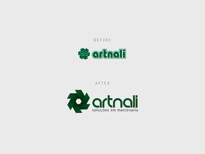Logo Redesign | Artnali identity green grid fibonacci phi id logotype rebrand redesign logo