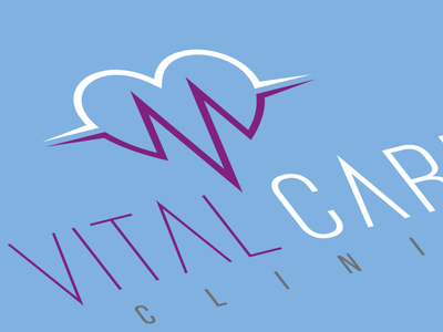 Vital Care Clinic - Logo Design fibonacci phi logotipo heart clinic identity care icon brand logo