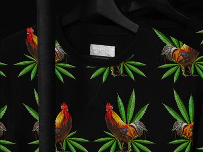Rooster®02 clothe textile collage art collage illustration design graphic design