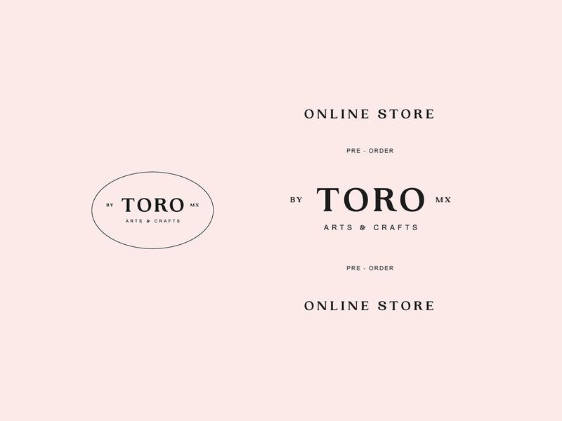 Toro arts and crafts toro typography logo brand identity branding design graphic design