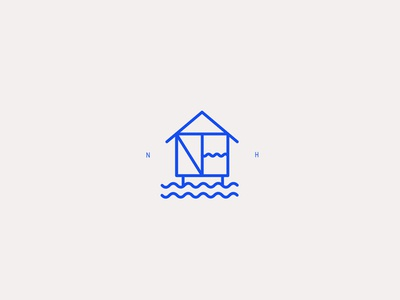 New Horizon wip brand identity branding illustrator vector graphic design logodesign logotype logo design