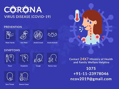 Corona Virus (COVID-19) ui healthcare heart covid-19 covid19 virus covid corona vector creative design graphic design illustration coronavirus