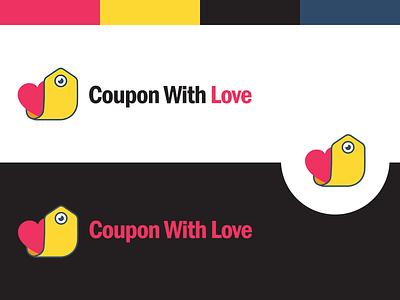 Coupon With Love Branding app icon design app mark design icon coupon creative logo design vector illustration identity logo branding