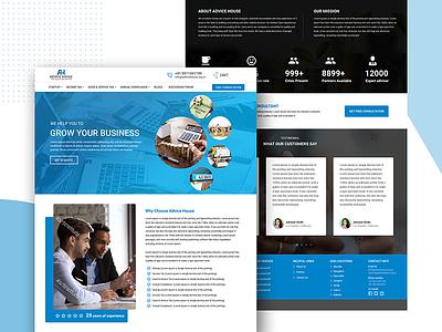Advice House Website Design website website concept web design webdesign mobile ui app animation web ux typography branding ui template graphic design design creative illustration