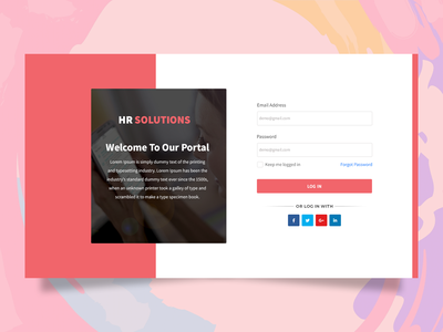 Sign-Up & Sign-In Page login design login screen login page template design ui vector ux typography branding graphic design creative illustration