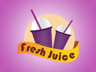 Fresh Juice Logo logotype branding drink brand juice illustration logo