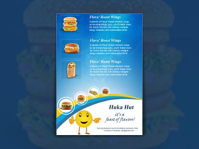 Fast Food Pamphlet Template flyer branding publish layout poster booklet print creative design graphic design template illustration pamphlet