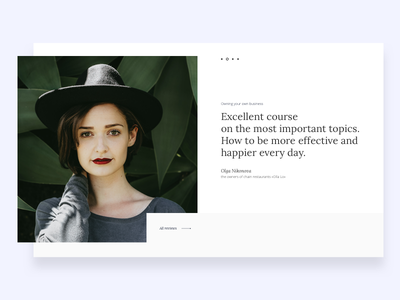 Day 012 of Daily UI - Testimonials experience typography ux user social testimonials minimal day100 ui daily