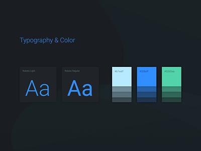 Colors app web user design flat minimal black typography kit ui colors