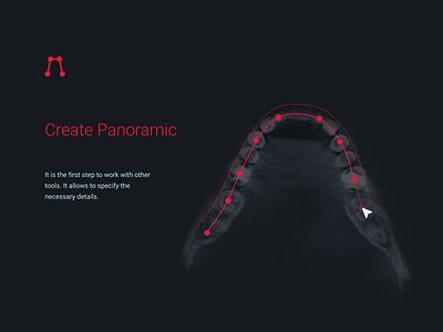 Design medical tool «Create Panoramic» ui minimal interface illustration icon dentists app web panoramic tool medical