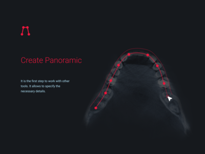Design medical tool «Create Panoramic» ui minimal interface illustration icon dentists app web panoramic tool medical