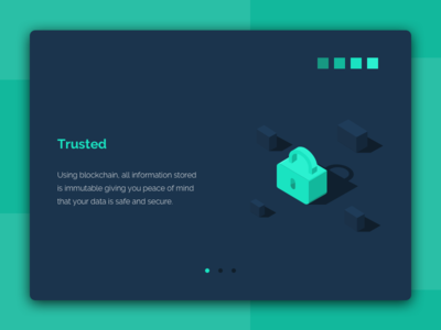 Illustration «Trusted» in text block. clean color isometric color trusted sketch lock illustration icons flat cube contract abstraction