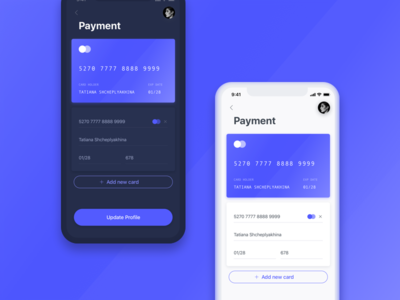 iPhone X ⏤ Payment Screen 💎 white food adobe xd sketch delivery black ui kit ui settings bank card profile mobile app iphone x ios payment