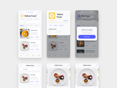 Delyo   Food Delivery App   Round 4 ui kit category ui8 delyo iphone xs ios mobile app delivery free store popup restaurant search food adobe xd minimal card ui sketch white
