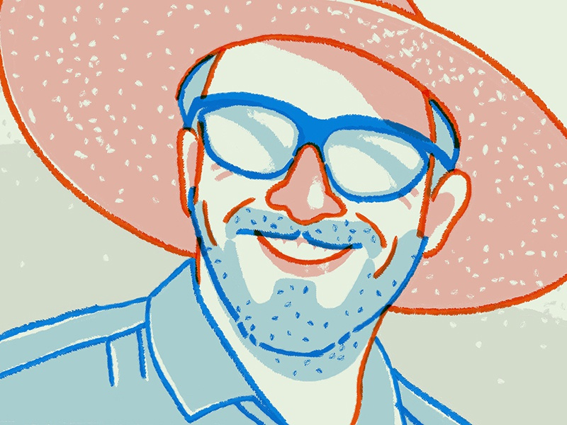 Phil Neumann Portrait procreate app read october editorial illustration digital illustration portrait beer blog