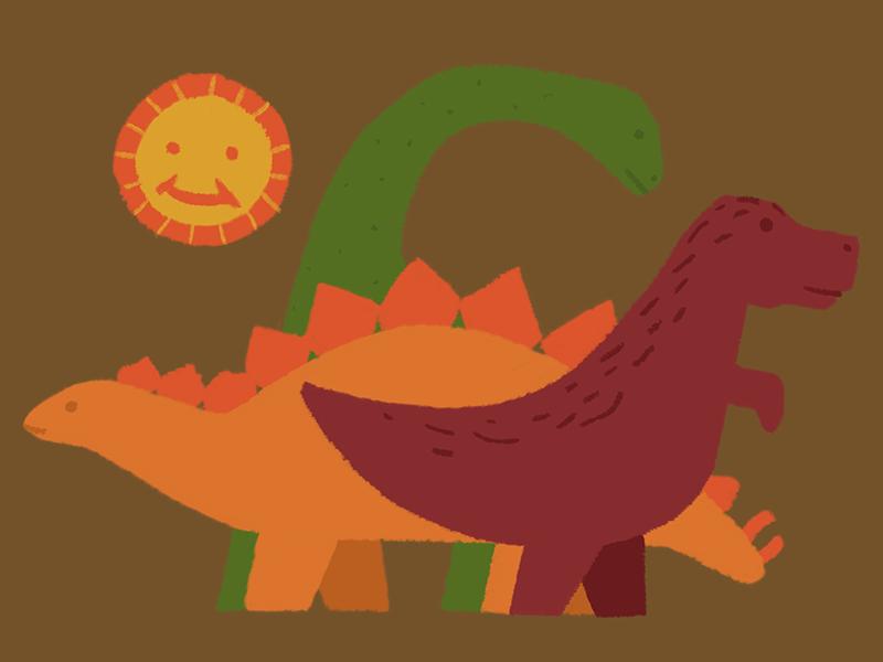 Dinosaurs digital illustration dinosaurs