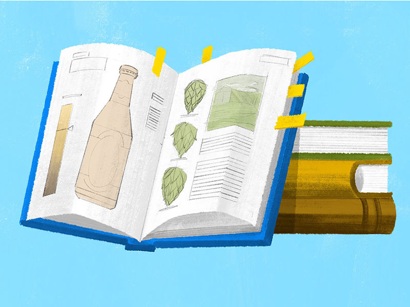 Course Catalog of Beers october good beer hunting books beer editorial illustration beer blog