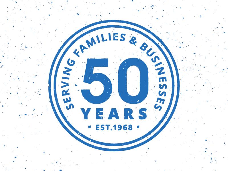 50 Years Stamp token stamp celebration 50 years crest seal