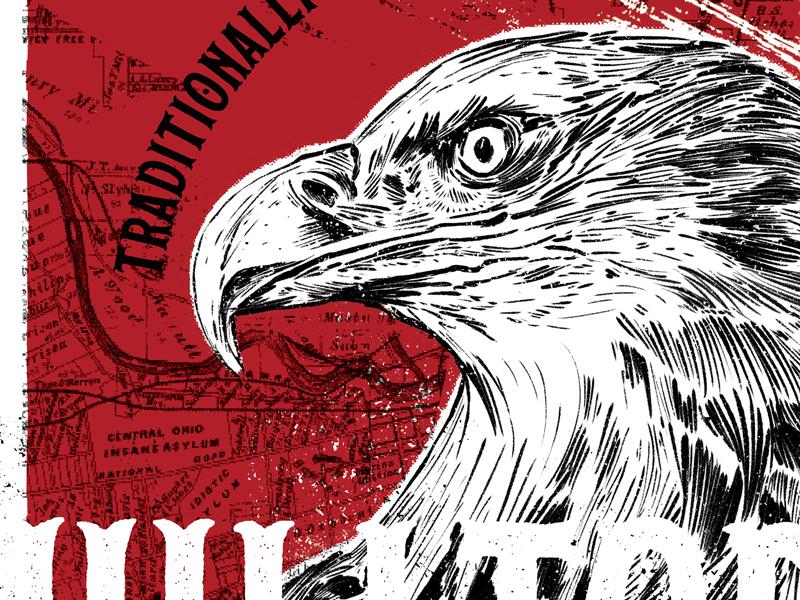 Hilltop Bald Eagle bald eagle illustration four string brewery craft beer hilltop