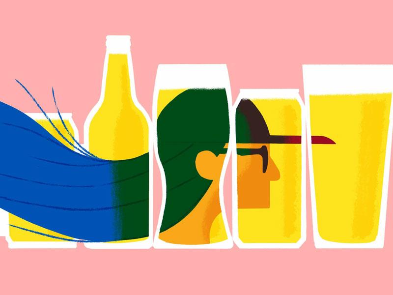 Beer Identity procreateapp beer beer blog digital illustration