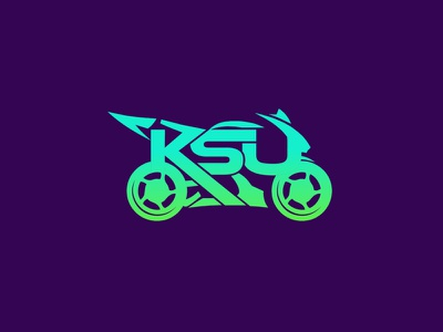 KSU motorcycle heavybyke byke ksu initials art mainitials vector colorfull idea design clever classic branding logo