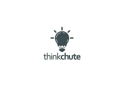 ThinkChute logos clever think idea logo parachute