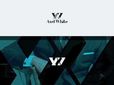 Axel White logo initials branding classic word mark men clothing aw
